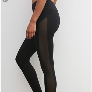 Forever 21 mesh panel active leggings